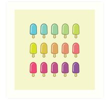 Popsicle Gradient Art Print