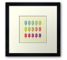 Popsicle Gradient Framed Print