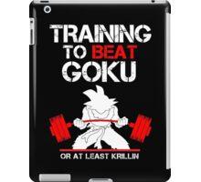 Training to Beat Son Goku iPad Case/Skin