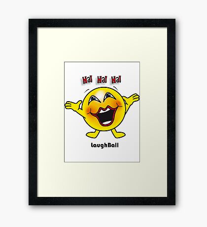 Laugh Ball Framed Print