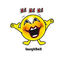 Laugh Ball Photographic Print