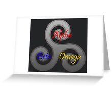 Alpha/Beta/Omega Triskele Greeting Card