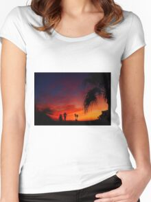Saturday Sunset Women's Fitted Scoop T-Shirt