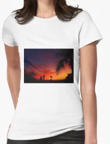 Saturday Sunset Womens Fitted T-Shirt