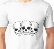 Skulls Fantasy Art Design Unisex T-Shirt