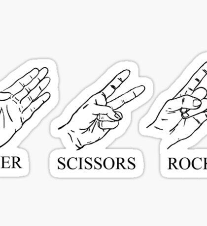 Paper, Scissors, Rock n Roll Sticker