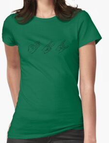 Paper, Scissors, Rock n Roll Womens Fitted T-Shirt