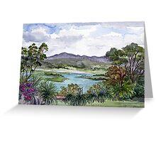 Rosevears Vineyard in Tasmania, Australia Greeting Card