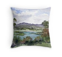 Rosevears Vineyard in Tasmania, Australia Throw Pillow
