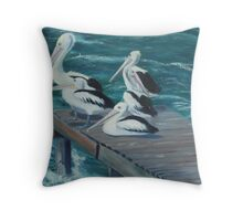 Private Jetty Throw Pillow
