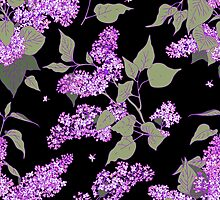 Lilac. seamless pattern. by Laces