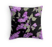 Lilac. seamless pattern. Throw Pillow