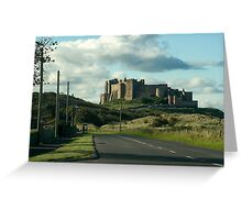 Bamburgh castle in Northumberland Greeting Card