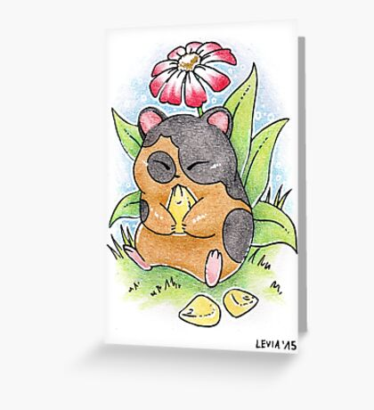 Hamster ACEO Greeting Card