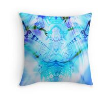 Radiating He Sits Throw Pillow