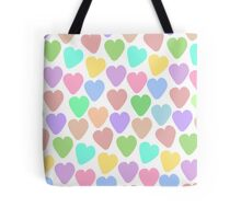 Pastel Heart Pattern Tote Bag
