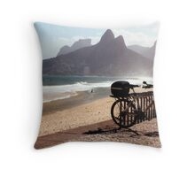 Ipanema Beach Throw Pillow
