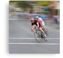 Cyclists Speeding into the Curve Canvas Print