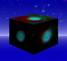 The Fractal Cube Galaxy by Sandra Chung