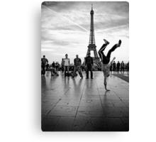 breaking paris Canvas Print
