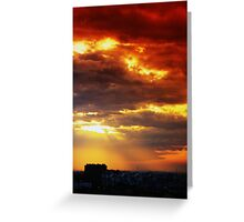 Angry Anting Sky Greeting Card