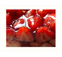 Red 4 Strawberry Art Print