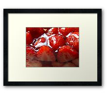 Red 4 Strawberry Framed Print