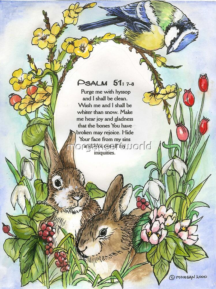 Psalm 51: 7-8 by morgansartworld