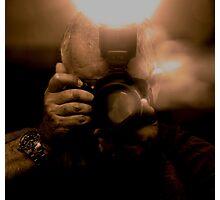 Photographer Capturing Light in Sepia Tones Photographic Print