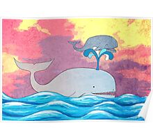 How Whales Have Fun Poster