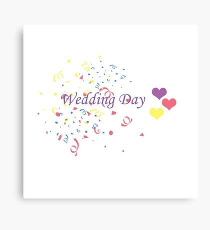 Wedding Day Confetti Card Canvas Print