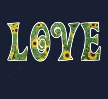 Sunflower Hippy Love Baby Tee