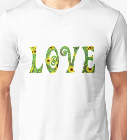 Sunflower Hippy Love Unisex T-Shirt