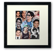 Tyler Posey collage Framed Print