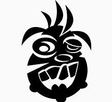 Awesome Crazy Dog Face (Black) Unisex T-Shirt