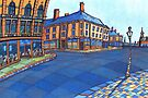 194 - BLYTH-COWPEN DIVISION (STYLISED) - DAVE EDWARDS - WATERCOLOUR - 2007 by BLYTHART