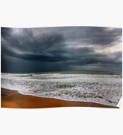 storm over the sea Poster