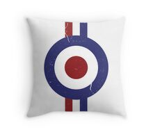 Weathered Target and stripes Throw Pillow