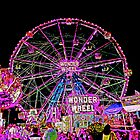 CONEY ISLAND WONDER WHEEL IN NEON by KENDALL EUTEMEY