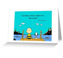 charlie brown Greeting Card