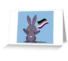 Lane - the Asexual Pride Bunny Greeting Card