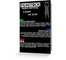 Filmstock Music Festival (white text) Greeting Card