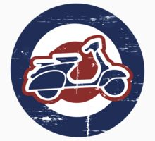 Weathered Mod Target and Scooter  Kids Tee