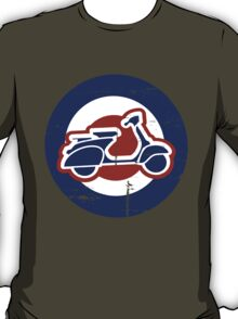 Weathered Mod Target and Scooter  T-Shirt