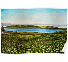 """""""Buttercups - view of Hog Island"""" - oil painting Poster"""