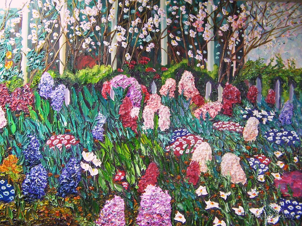 Flowers in Greenhouse, Early Spring by Richard Nowak