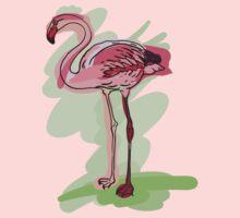 flamingo One Piece - Long Sleeve