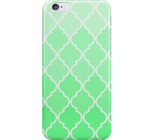 Trendy chic turquoise classic Quatrefoil Pattern iPhone Case/Skin