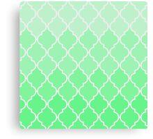 Trendy chic turquoise classic Quatrefoil Pattern Canvas Print