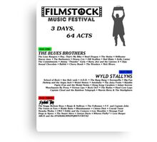 Filmstock Music Festival (black text) Canvas Print